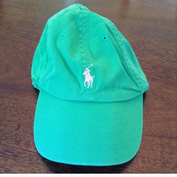 b3a9edd4fb4 Polo by Ralph Lauren Accessories - POLO RALPH LAUREN Green w Pink Cap EUC